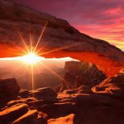 Canyondlands - Mesa Archa puesta de sol